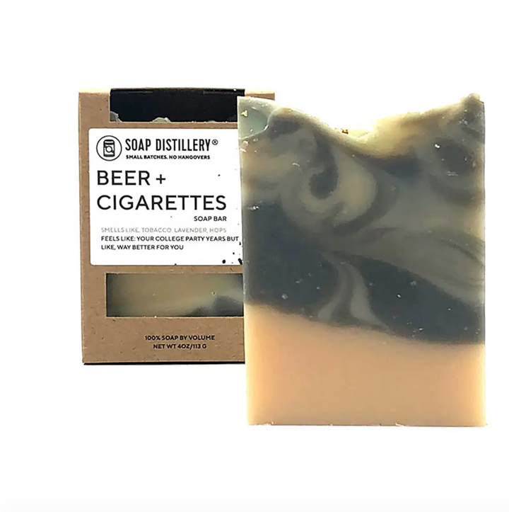 Beer + Cigarettes Soap Bar
