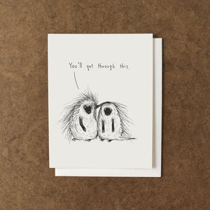 You'll Get Through This Porcupines Card - AL3