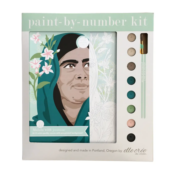 Paint by Numbers Kit - Malala with Jasmine