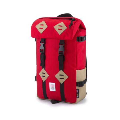 Topo Designs Klettersack Red/Khaki Leather
