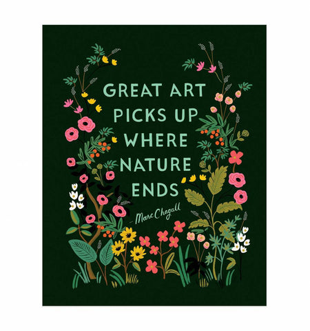 Great Art Picks Up Art Print