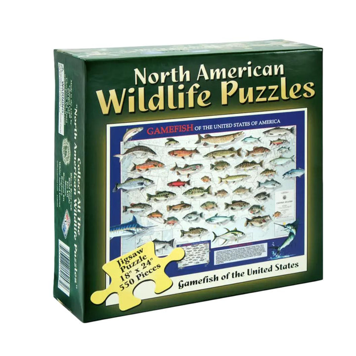 North American Wildlife Jigsaw Puzzle - Gamefish