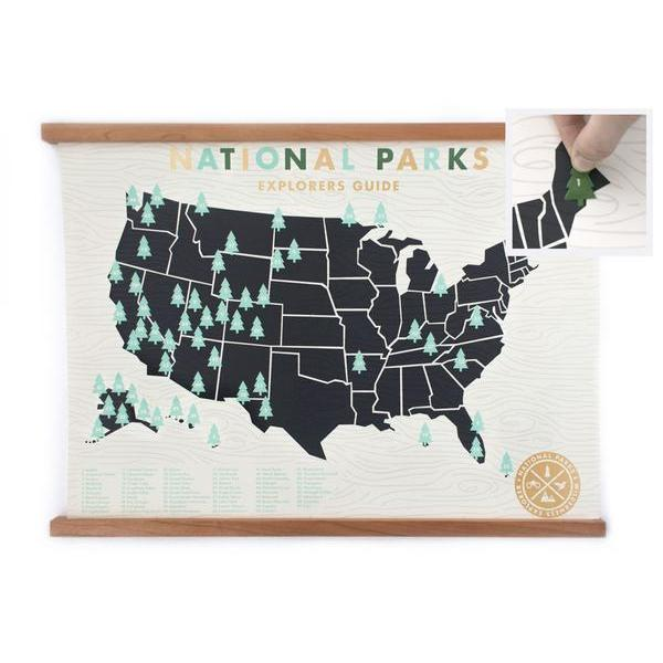 National Park Screen Print with Tree Stickers
