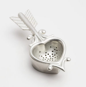 Heart Tea Strainer with Rest