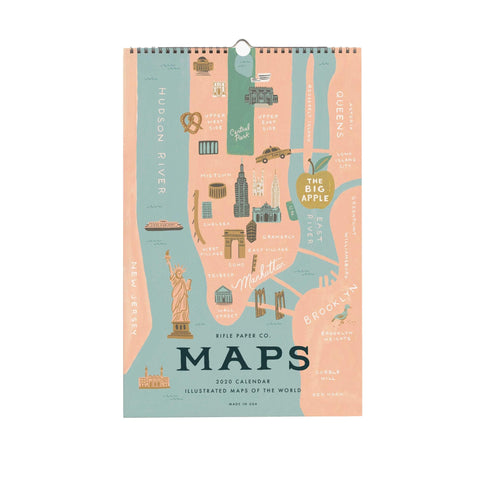 2020 City Maps of the World Wall Calendar