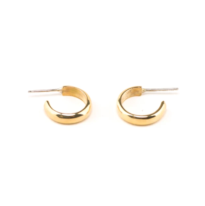 Aries Gold Plated Hoop Earrings
