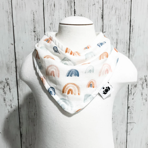 Organic Cotton Baby Bibs - Earthen Rainbow