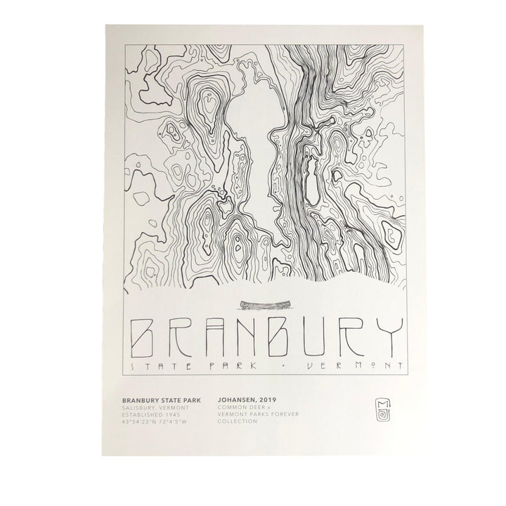 Vermont Parks Collection Print: Branbury State Park