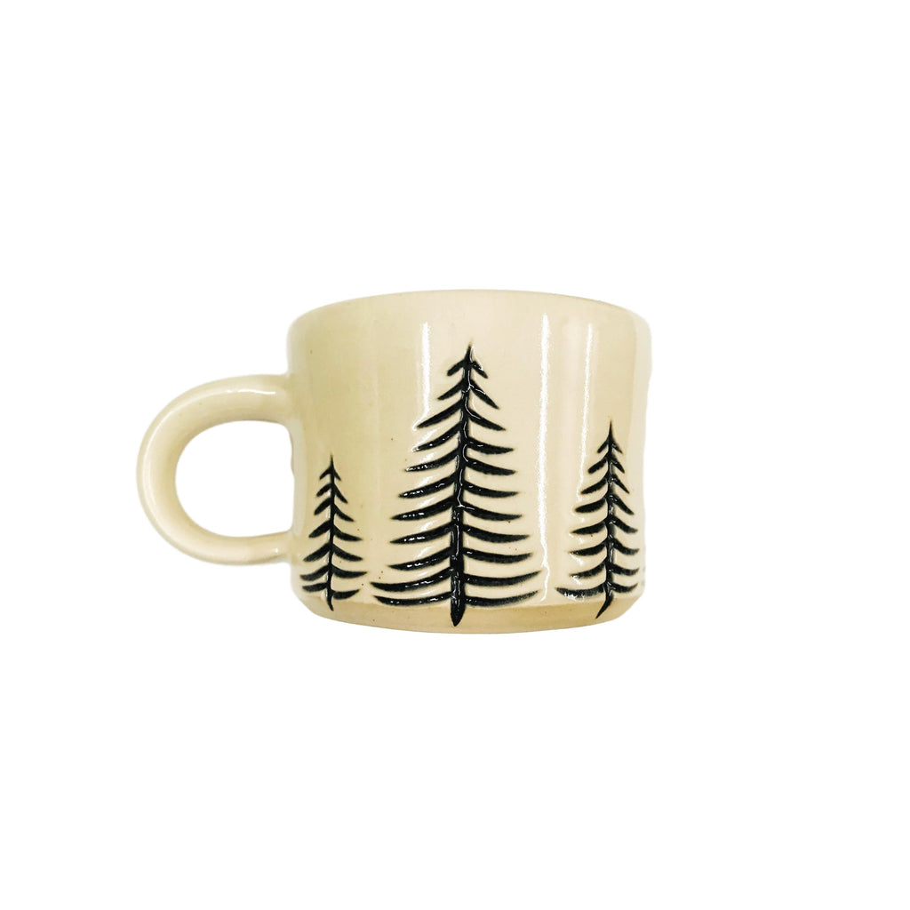 White & Black Tree Mug