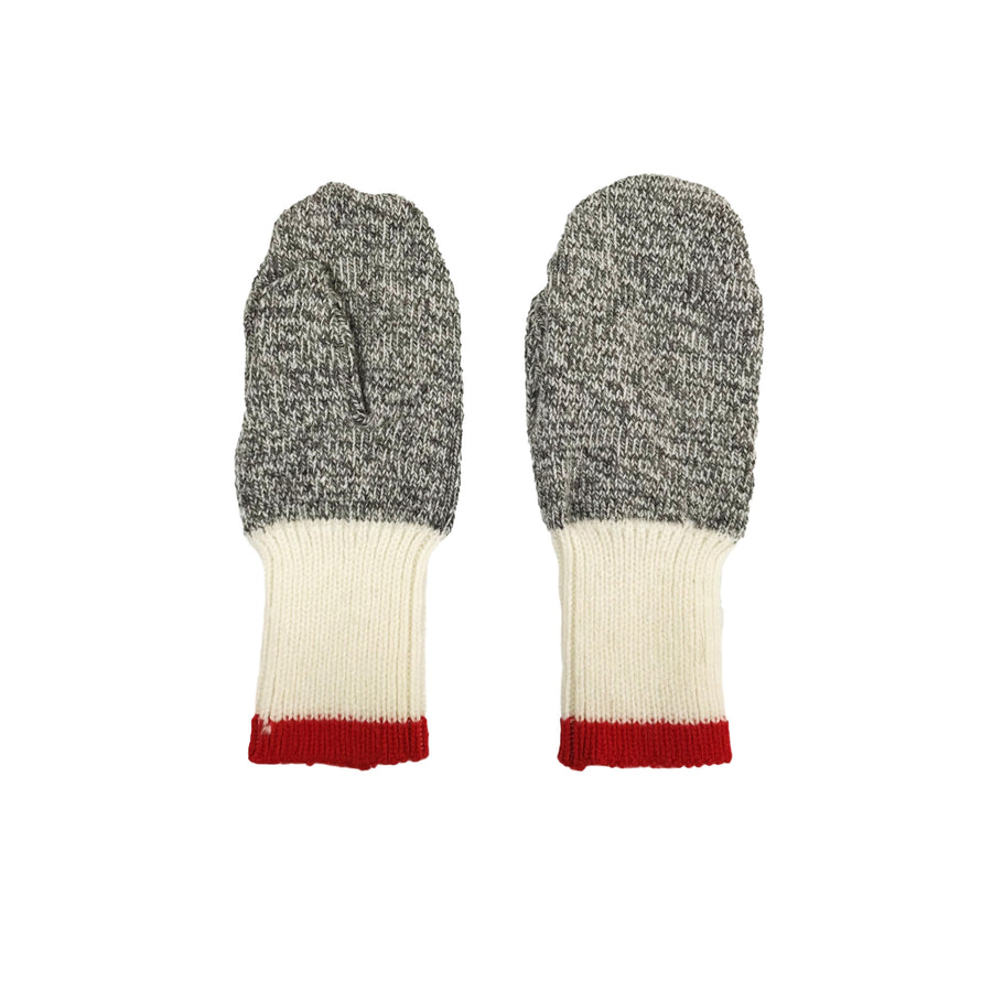 Northland Wool Mittens - Grey/Red