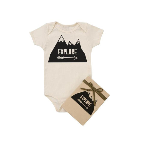 Explore Organic Cotton Baby Bodysuit