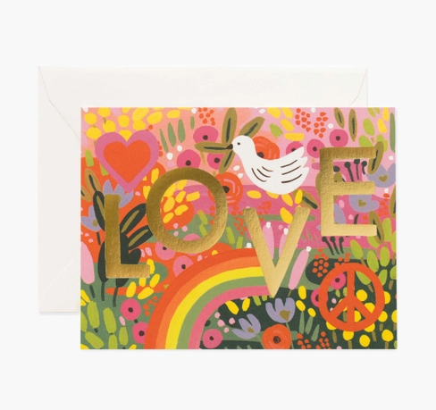 All you need is love rainbow card - RP1