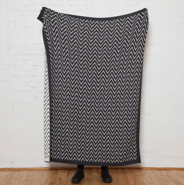 Sustainable Cotton Vertex Reversible Throw