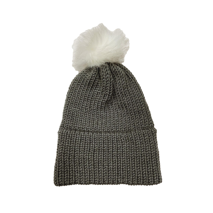 Made in Vermont Fuzzy Pom Hat - Charcoal