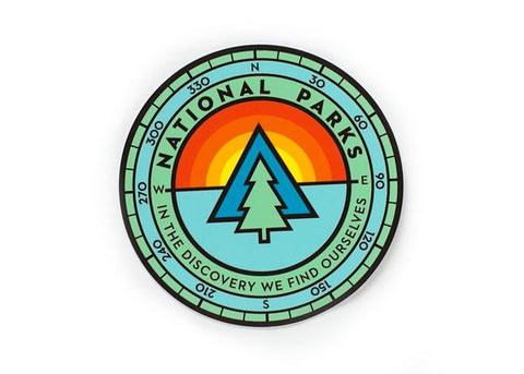National Park Sunrise Vinyl Sticker