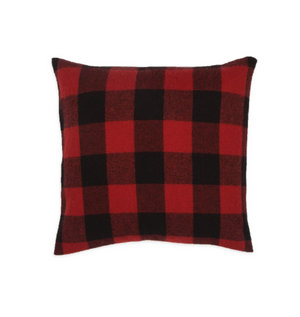 Buffalo Check Wool Pillow with Insert