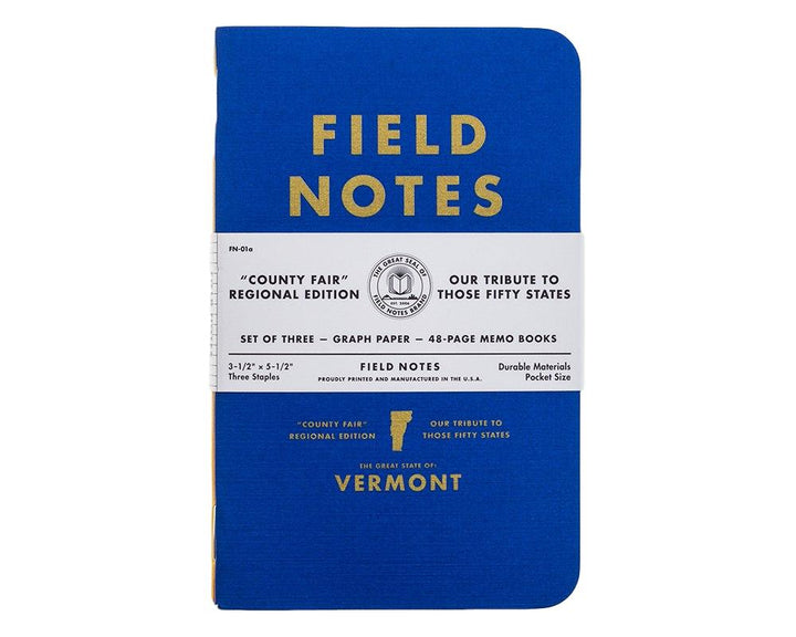Field Notes Vermont County Fair Regional Edition Vermont