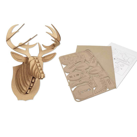 Mini Cardboard Animal Head Puzzle