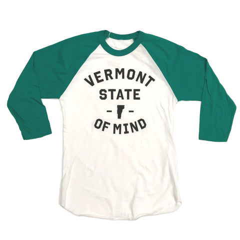 Vermont State of Mind Women's Green Raglan
