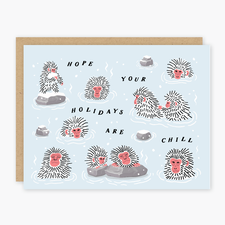 Snow Monkeys Holiday Card - PO7
