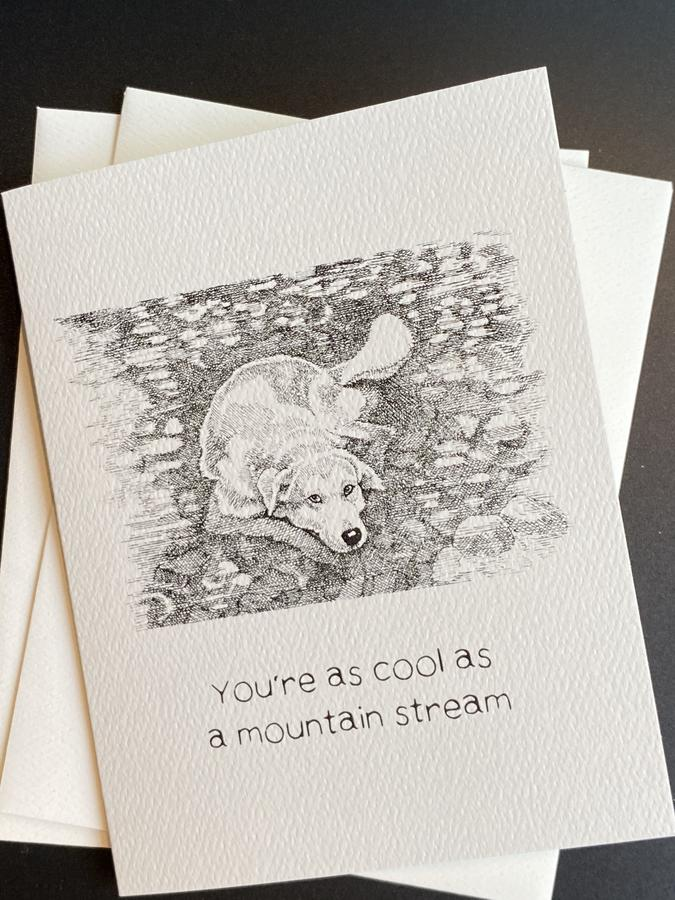 You're as Cool as a Mountain Stream Card - AA1