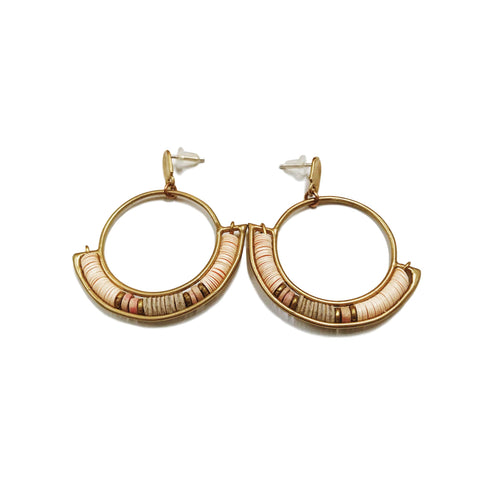 Portaln Hoop Earrings - Sandstone