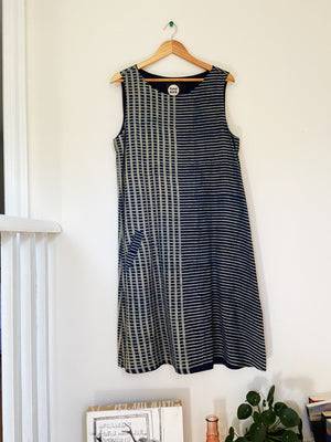 Hand-dyed Indigo Sleeveless Dress FINAL SALE
