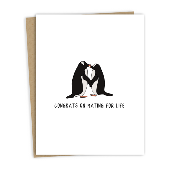 Penguins Mating for life card - RD4