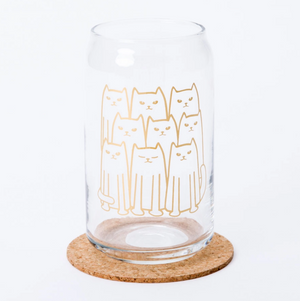 Cat Beer Can Glass