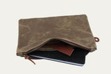 Folio Zip Pouch in Field Tan