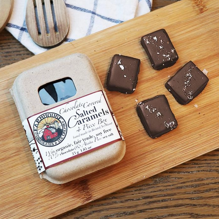 Vermont Made Dark Chocolate Covered Salted Caramels - 4 Piece
