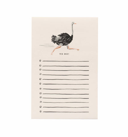 Rifle Paper Ostrich Notepad