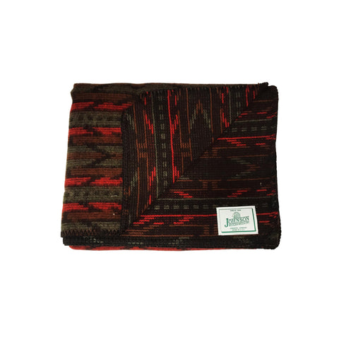 Johnson Woolen Mills Norris Throw - Red Pine