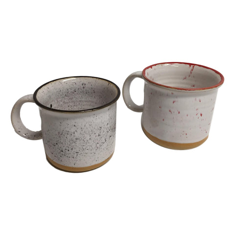 Enamelware Look Ceramic Mugs