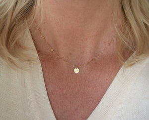 Camel's Hump Petite Disc Necklace