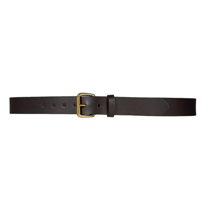 "Filson Bridle Leather Belt 1-1/4""  - Brass Buckle"