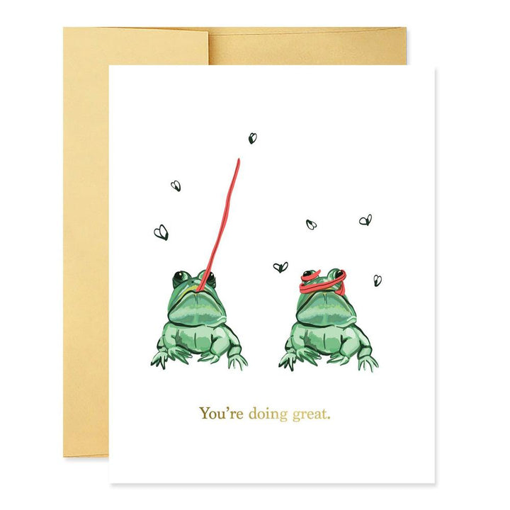 You're Doing Great Frogs Card - GJ2
