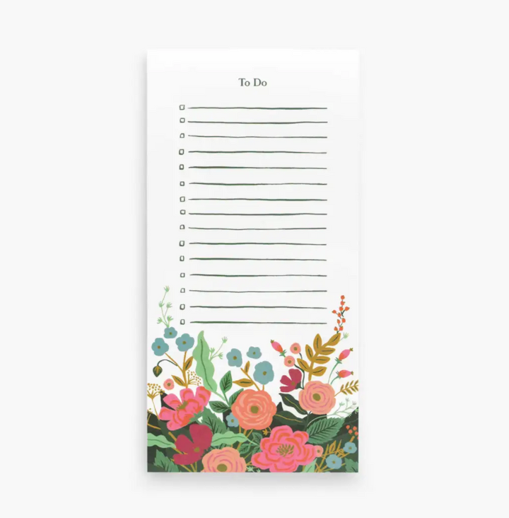 Rifle Paper Floral Vines Market Notepad
