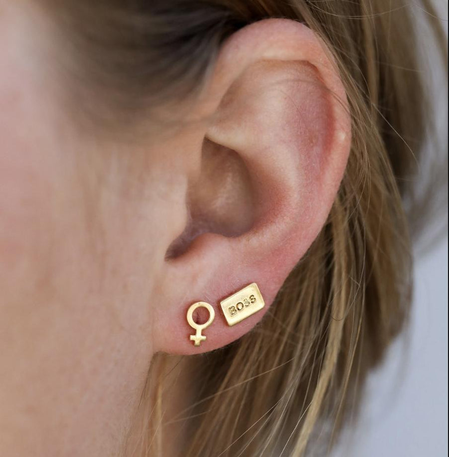 Girl Boss Complement Studs