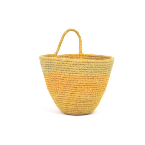 Mini Woven Planter - Dyed Amber