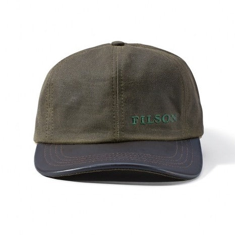 Filson Tin Leather Cap Otter Green