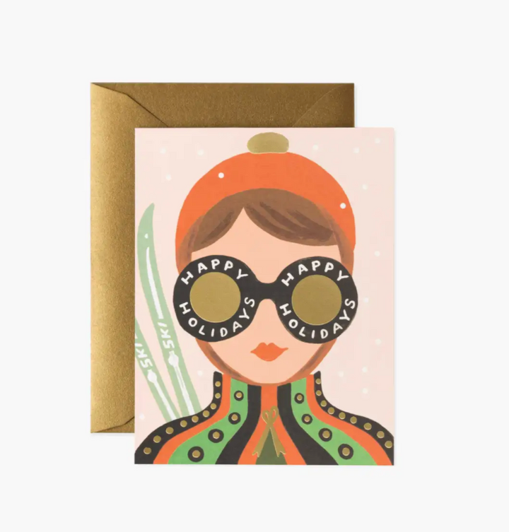 Ski Girl Boxed Set of 8 Cards