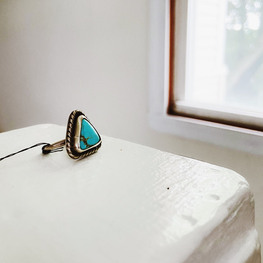 One of a Kind Turquoise Ring - Small Triangle