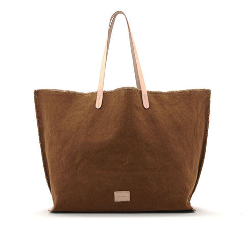 Hana Boat Bag in Mountain Canvas/Natural Leather
