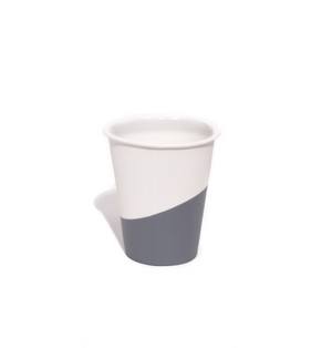 "Porcelain ""Paper Cup"" Dipped in Rubber - Gray"