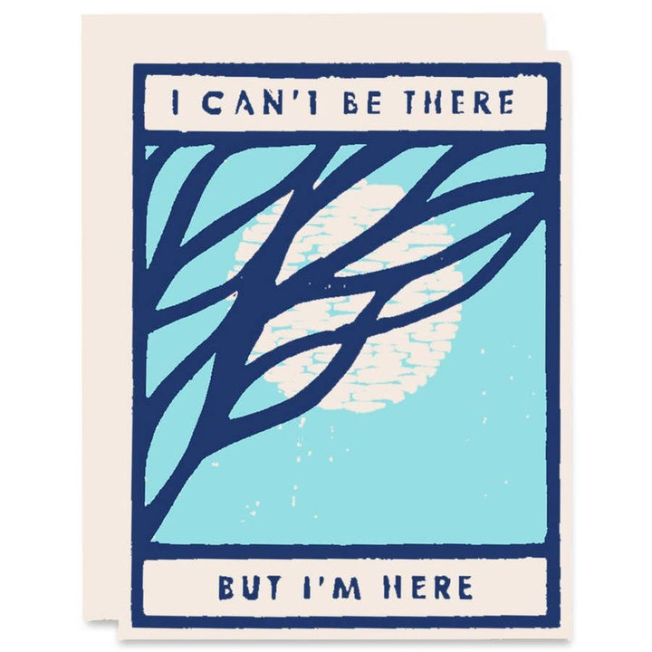 I Can't Be There Moon Card - HP3