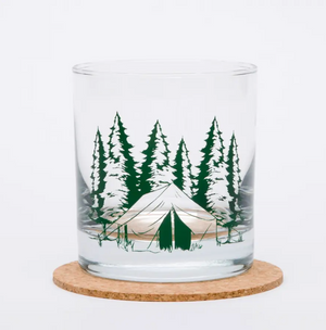 Camping Rocks Glass