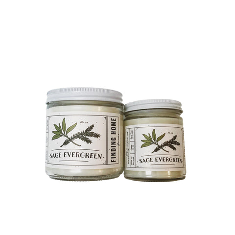 Sage Evergreen Candle
