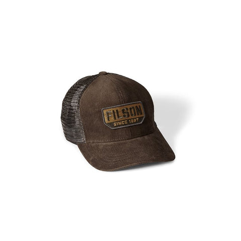 Filson Corduroy Logger Mesh Cap in Brown