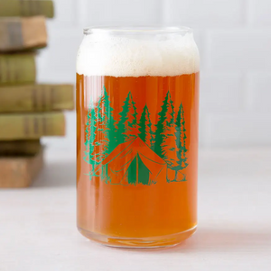 Camping Beer Can Glass
